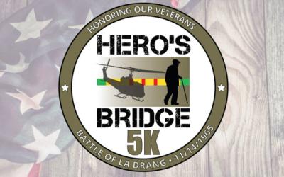 Registration is still open for the Hero's Bridge Vietnam Veterans 5K fun run/walk on May 1!