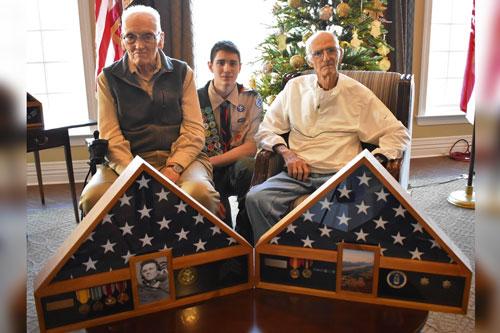Hero's Bridge celebrates our older veterans with pinning ceremonies.